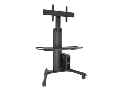 Chief Manufacturing LPAUB Fusion Large Manual Height Adjustable Mobile Cart LPAUB - Cart for video conferencing system - black - screen size: 40-71