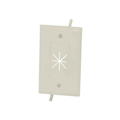DataComm Electronics 45-0014-LA Cable Plate with Flexible Opening - Flush mount wallplate - light almond - 1-gang