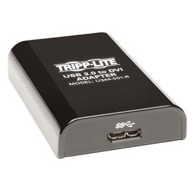 TrippLite U344-001-R USB 3.0 to DVI or VGA Adapter 2048 x 1152 60Hz Video Resolution