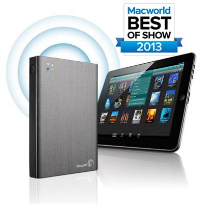 Seagate STCK1000100 1TB Wireless Plus Portable Drive with Built-In Wi-Fi Streaming - USB3.0