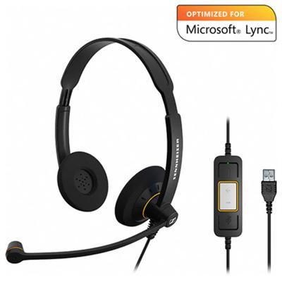 Sennheiser Electronic Sc60usbml Sc 60 Usb Ml Dual-sided Headset - Optimized For Microsoft Lync