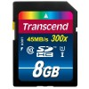Transcend Premium - Flash memory card - 8 GB - UHS Class 1 / Class10 - 300x - SDHC UHS-I