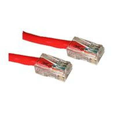 C2G 22699 Cat5e Non-Booted Unshielded (UTP) Network Patch Cable - Patch cable - RJ-45 (M) to RJ-45 (M) - 14 ft - CAT 5e - stranded - red