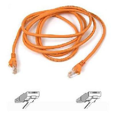 Belkin A3L791-04-ORG Patch cable - RJ-45 (M) to RJ-45 (M) - 4 ft - UTP - CAT 5e - orange - for Omniview SMB 1x16  SMB 1x8  OmniView IP 5000HQ  OmniView SMB CAT5