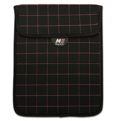 Mobile Edge MESST110X NeoGrid Tablet Sleeve - Black with Pink Stitching