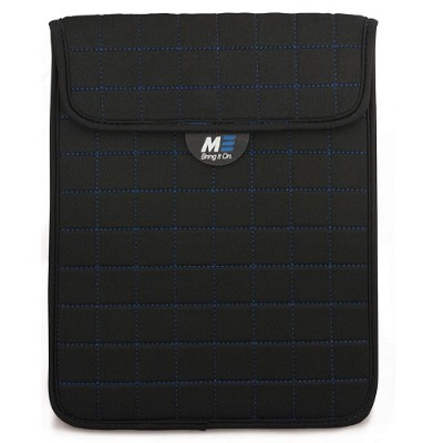 Mobile Edge MESST1103 NeoGrid Tablet Sleeve - Black with Blue Stitching