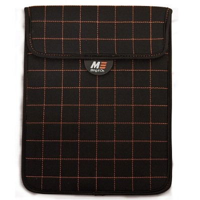 Mobile Edge MESST1100 NeoGrid Tablet Sleeve - Black with Orange Stitching