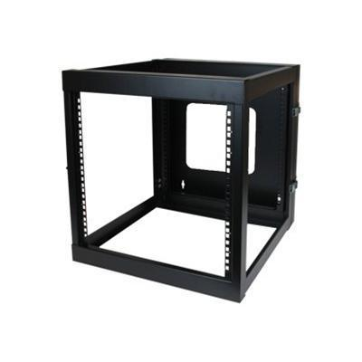 StarTech.com RK1219WALLOH 12U 22in Depth Hinged Open Frame Wall Mount Server Rack - Open Frame Rack Cabinet Wallmount Server Rack