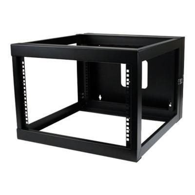 StarTech.com RK619WALLOH 6U 22in Depth Hinged Open Frame Wall Mount Server Rack - Rack - wall mountable - black - 6U - 22