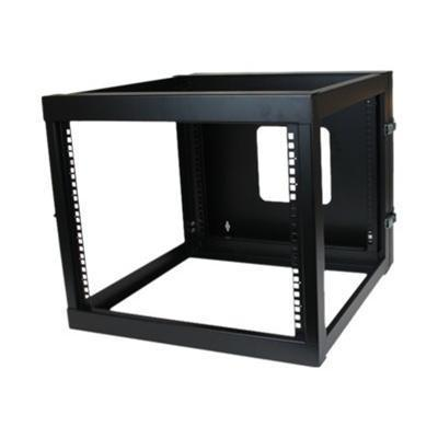 StarTech.com RK819WALLOH 8U 22in Depth Hinged Open Frame Wall Mount Server Rack - Rack - wall mountable - black - 8U - 22