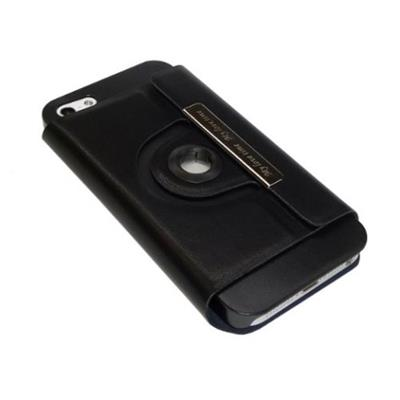 Hornet Tek LC-IPHONE5-RT Magnetic Flip Hard Shell Case with Multi Rotation Viewing Angle for Apple iPhone 5 - Black