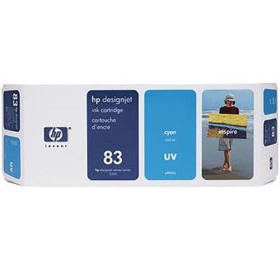 HP Inc. C4941A 83 680-ml Cyan UV Ink Cartridge