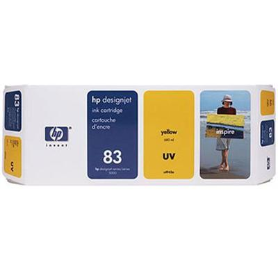 HP Inc. C4943A 83 680-ml Yellow UV Ink Cartridge
