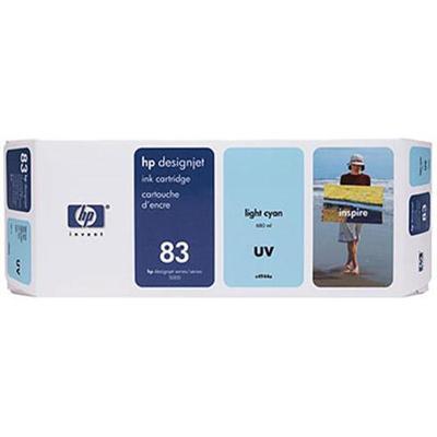 HP Inc. C4944A 83 680-ml Light Cyan UV Ink Cartridge