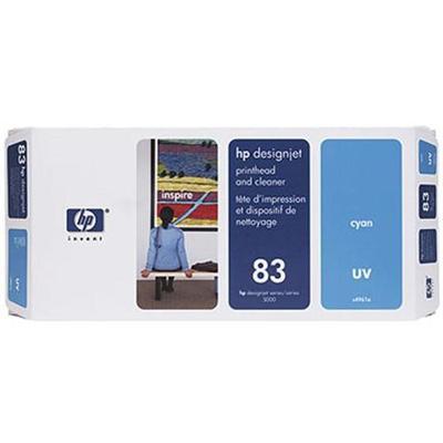 HP Inc. C4961A 83 Cyan UV Printhead and Printhead Cleaner