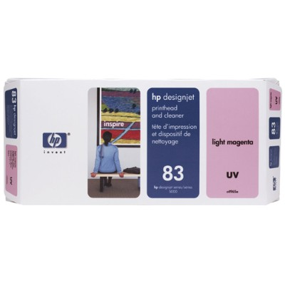 HP Inc. C4965A 83 Light Magenta UV Printhead and Printhead Cleaner