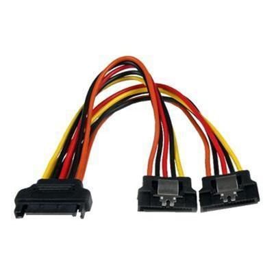 StarTech.com PYO2LSATA 6in Latching SATA Power Y Splitter Cable Adapter - M/F - Power splitter - SATA power (M) to SATA power (F) - 6 in - latched