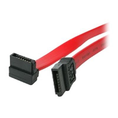 4XEM 4XSATA24RA SATA cable - Serial ATA 150/300/600 - 7 pin SATA (F) to 7 pin SATA (F) - 2 ft - plenum  right angle connector - red