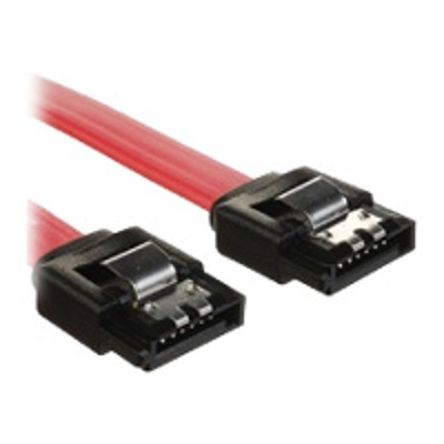 4XEM 4XSATAL8RD SATA cable - Serial ATA 150/300/600 - SATA (F) to SATA (F) - 8 in - latched  plenum  right-angled connector - red
