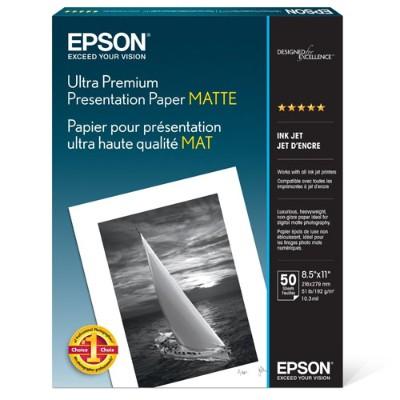 Epson S041341 8.5 x 11 Ultra Premium Presentation Paper Matte - 50 Sheets