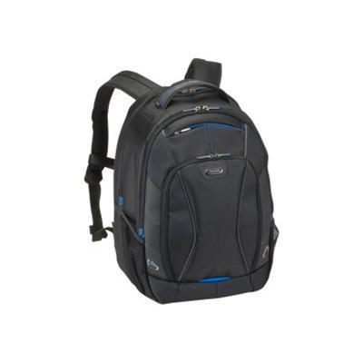 SOLO TCC703-4/20U2 Tech Backpack TCC703 - Notebook carrying backpack - 17.3 - black/blue