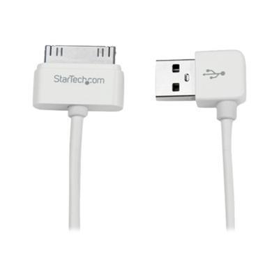 StarTech USB2ADC1MUR 1m (3 ft) Apple 30-pin Dock Connector to Right Angle USB Cable for iPhone / iPod / iPad with Stepped Connector