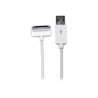 StarTech.com USB2ADC1MD 1m (3 ft) Down Angle Apple 30-pin Dock Connector to USB Cable for iPhone / iPod / iPad with Stepped Connector