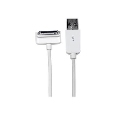 StarTech.com USB2ADC2MD 2m (6 ft) Long Down Angle Apple 30-pin Dock Connector to USB Cable for iPhone / iPod / iPad with Stepped Connector