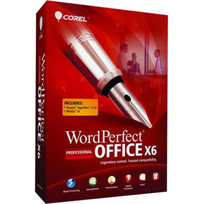 Corel ESDWPX6PRENUGNA WordPerfect Office X6 Professional Edition Upgrade license 1 user ESD Win English