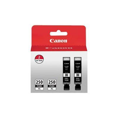 Canon 6432B004 PGI-250PGBK XL Twin Pack - 2-pack - XL - pigmented black - original - ink tank - for PIXMA iP8720  IX6820  MG5520  MG5522  MG5620  MG56