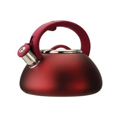 Primula Products PAVRE-6225 Avalon 2.5 Qt Whistling Kettle - Matte Red