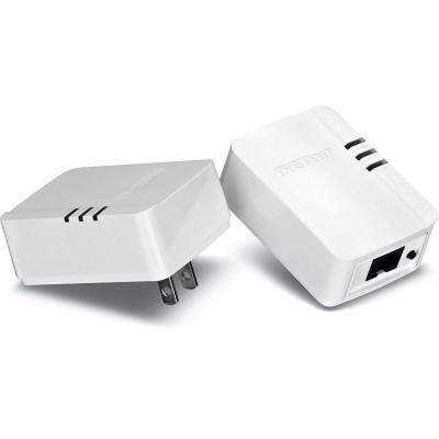 TRENDnet TPL-308E2K Powerline 200 AV Nano Adapter Kit TPL-308E2K - bridge - wall-pluggable