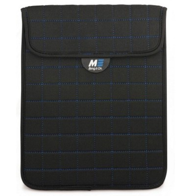 Mobile Edge MESST173 NeoGrid iPad Mini 7 Tablet Sleeve - Black with Blue Stitching