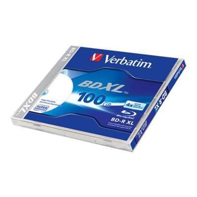 Verbatim 43790 BD-R XL - 100 GB 4x - ink jet printable surface - jewel case