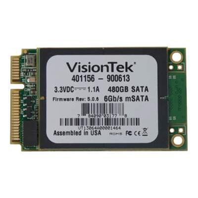 Visiontek 900613 Solid state drive - 480 GB - internal - mSATA - SATA 6Gb/s