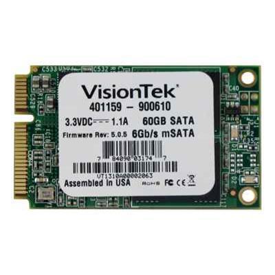Visiontek 900610 Solid state drive - 60 GB - internal - mSATA - SATA 6Gb/s