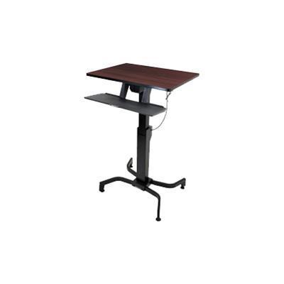 Ergotron 24-280-927 WorkFit-PD Sit-Stand Desk - Stand for LCD display / keyboard / mouse - steel - black  walnut