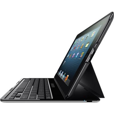 Belkin F5L149TTBLK Ultimate Keyboard Hardshell Case for iPad 4th & 3rd and iPad 2 - Black
