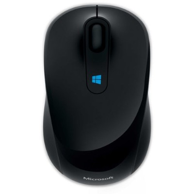 Microsoft 43U 00001 Sculpt Mobile Mouse Mouse optical 3 buttons wireless 2.4 GHz USB wireless receiver black