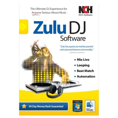 NCH Software RET-ZDJ001 Zulu Dj Mix Loop Beat Match Crom Automate Software for Windows / Mac