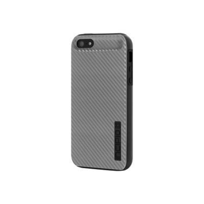 DualPro CF (Dual Protection with Carbon Fiber Finish) iPhone 5 Case - Silver / Black
