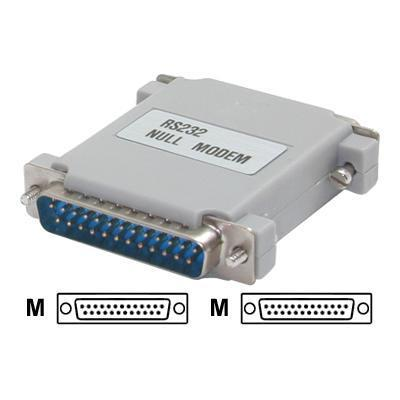 StarTech.com NM25MM Null Modem Adapter DB25M to DB25M - Null modem adapter - DB-25 (M) to DB-25 (M)