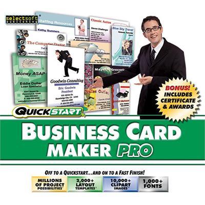 SelectSoft Publishing LQBUSCAMPJ ESD Quickstart Business Card Maker Pro