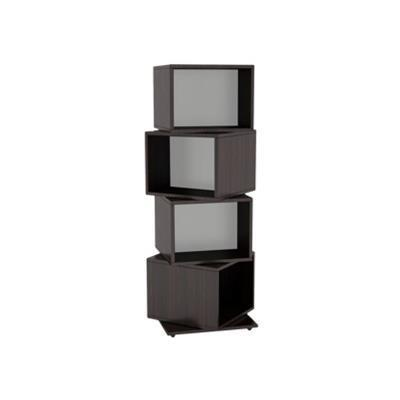 Atlantic 2823-5872 Rotating Cube - Media storage - steel  wood composite - espresso DVD  CD  Blu-ray Disc - floor-standing