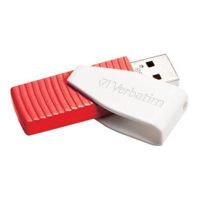 Verbatim 49814 Store 'n' Go Swivel - USB flash drive - 16 GB - USB 2.0 - red