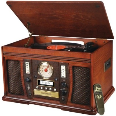 Innovative Technology Itvs-750 Aviator 5-in-1 Wooden Music Center / Non-bluetooth