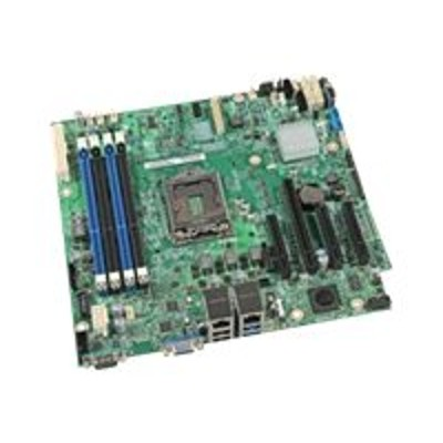 Intel DBS1200V3RPS Server Board S1200V3RPS - Motherboard - micro ATX - LGA1150 Socket - C222 - USB 3.0 - 2 x Gigabit LAN - onboard graphics