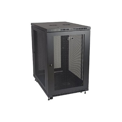 TrippLite SR18UB 18U Rack Enclosure Server Cabinet with Doors & Sides 1000lb Capacity