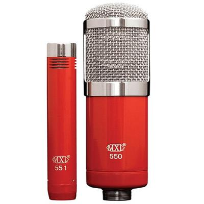 MXL 550551R 550/551R Microphone Ensemble - Red