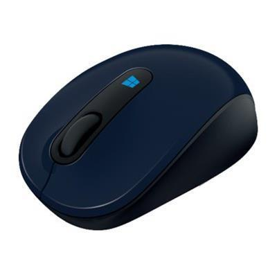 Microsoft 43U 00011 Sculpt Mobile Mouse Mouse optical 3 buttons wireless 2.4 GHz USB wireless receiver wool blue